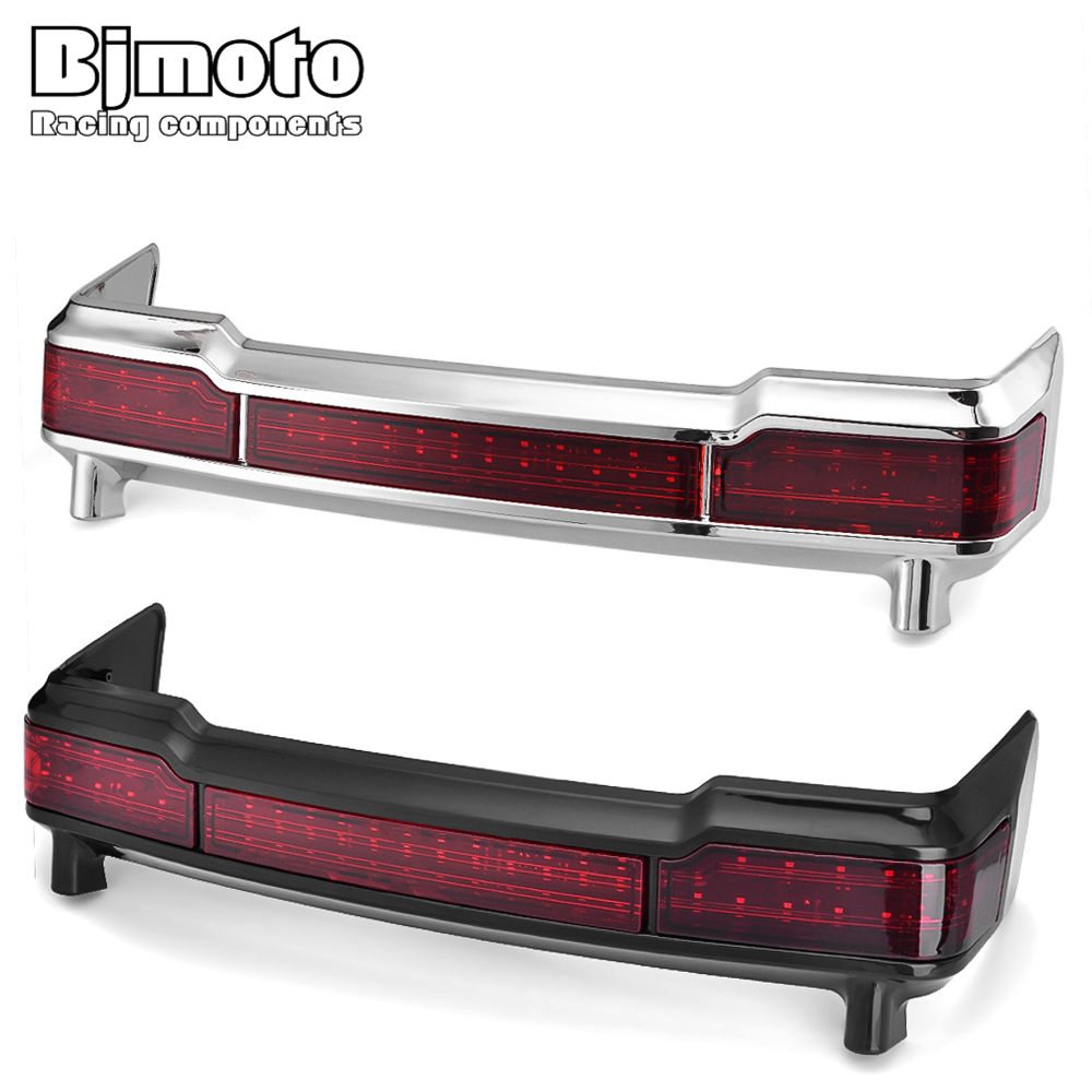 BJMOTO For Harley Touring models 2009-2013 Red LED Tail Brake Running Light