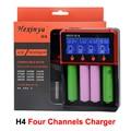 HXY-H4 Интеллектуальное Зарядное Устройство 4 Канала Быстрое Зарядное Устройство Быстрое Зарядное Устройство Для Li-Ion/Ni-Mh/Ni-CD Батареи VS Nitecore D4