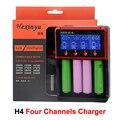 HXY-H4 Carregador de Bateria Inteligente 4 Canais Rápido Carregador Rápido Carregador Para Li-ion/Ni-MH/Ni-CD Baterias VS Nitecore D4
