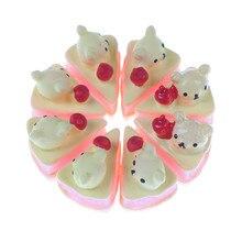 Cake-Doll-House Miniature Fake Artificial Food-Bear Play-Toy Resin DIY 5PCS Decorative-Random