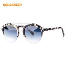 COLOSSEIN Fashion Sunglasses Women Men Hot Summer Vintage Holiday Cat Eye Style Round Glasses 2017 New Popular Eyewear