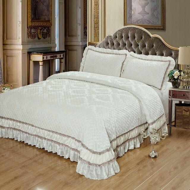 Luxury Bed cover Quilt Bedspread set bed set sofa cover blanket