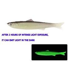 YTQHXY 2pcs/lot 12.5g/13cm Soft Bait Fishing Lure Shad Silicone Bass Flexible Minnow Bait Swimbait Plastic Lures Pasca YE-120