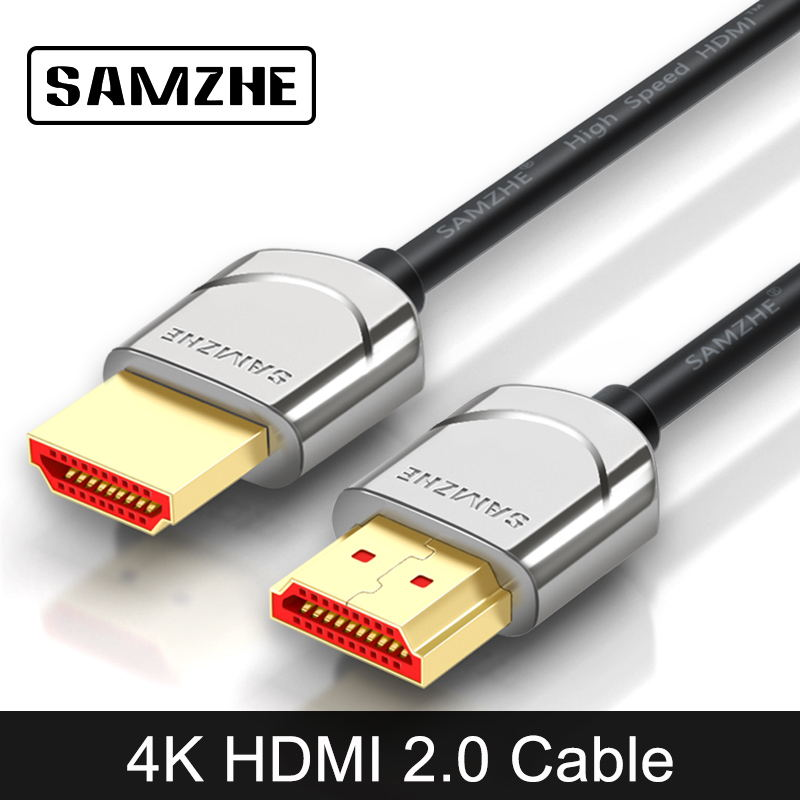 SAMZHE 4K*2K HDMI 2.0 Cable Metal Connector HDMI High Resolution for Laptop TV Xbox Displayer Computer SAMZHE 4K*2K HDMI 2.0 Cable Metal Connector HDMI High Resolution for Laptop TV Xbox Displayer Computer