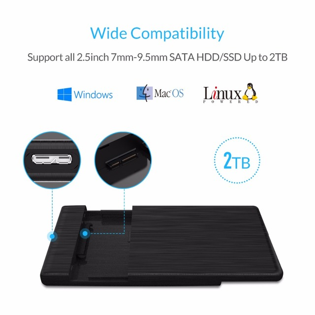 ORICO HDD Case 2.5 SATA to USB 3.0 Hard Drive Enclosure for SSD Disk HDD Box Type C 3.1 Case Support UASP HD External Hard Disk 4