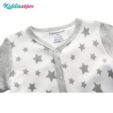 3/4/5Pcs/set Super Soft Cotton Baby Unisex Rompers Overalls Newborn Clothes Long Sleeve Roupas de bebe Infantis Boy clothing Set