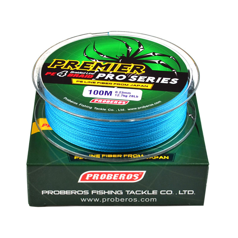 100m fishing peline brand red green grey yellow blue for Fishing line brands