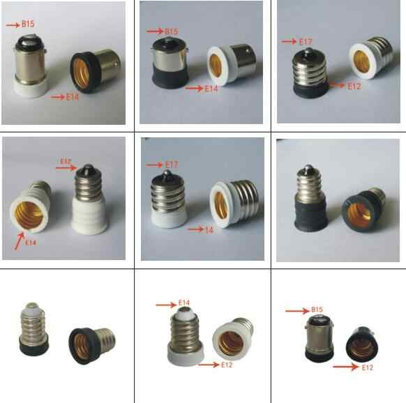 1pcs Converter E12 E14 E17 E27 B15 Adapter Conversion Socket High Quality Material Fireproof Socket Adapter Lamp Holder