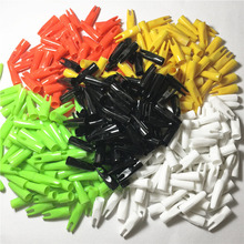 OBAADTF 100 pcs/lot ID 5/16 Cone Archery Arrow Hunting Arrows Nocks Plastic Outwear Tail Used For OD 8mm Wooden