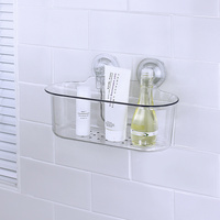 Bathroom shelf toilet kitchen suction cup storage rack wall hanging punch free suction wall storage rack drain rack wx8171426
