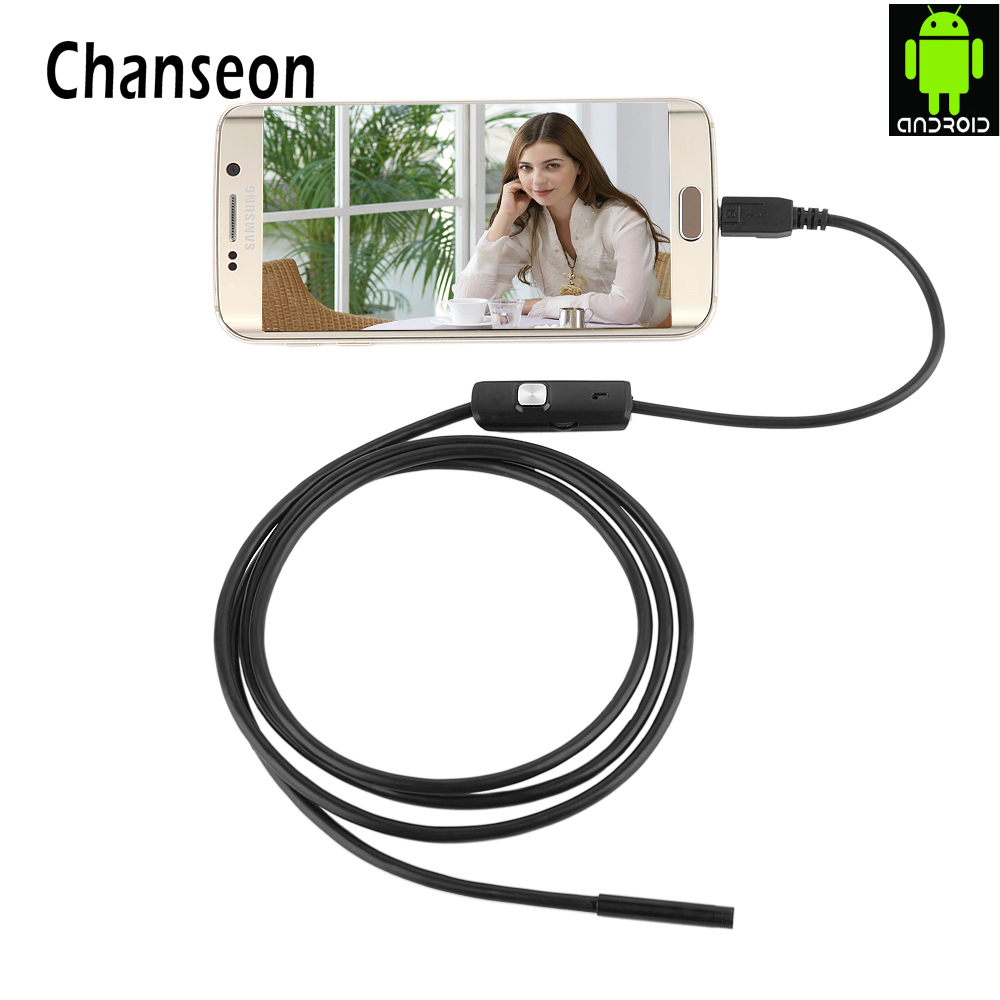 Endoscope 7mm Lens for Some Android font b Phone b font Endoscope Waterproof 1M 2M 3