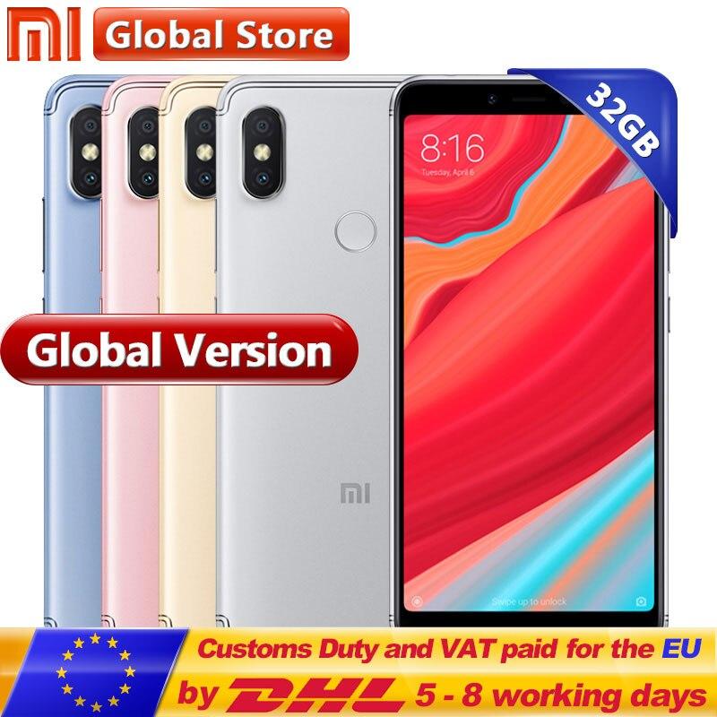 Global Version Xiaomi Redmi S2 3GB RAM 32GB ROM Cellphone Snapdragon S625 Octa Core 3080mAh 5.99 12.0MP+5.0MP Mobile Phone