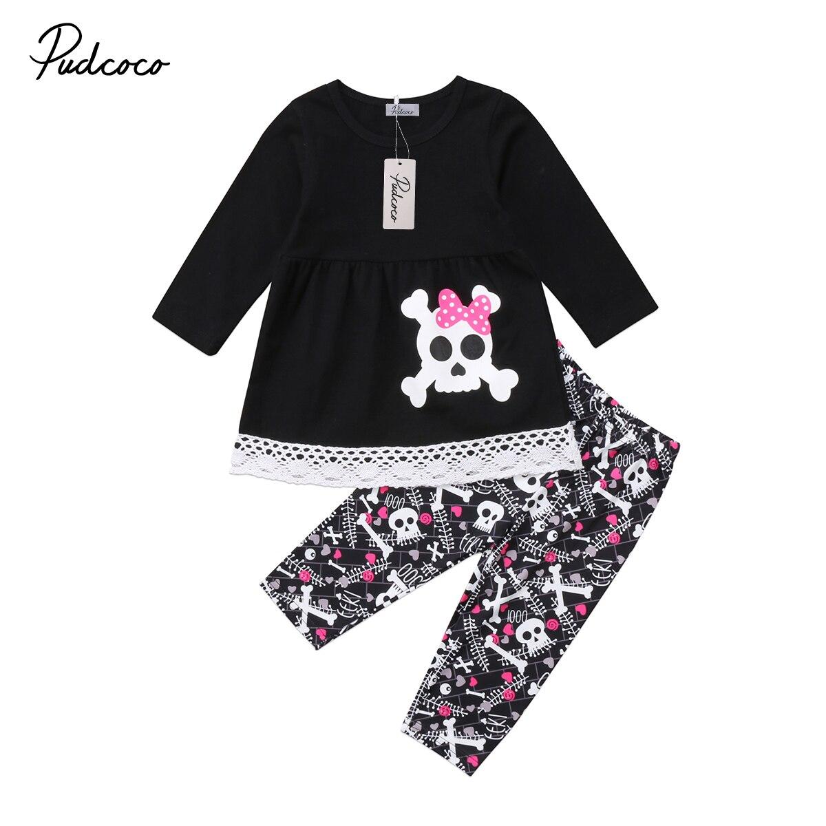 2Pcs Kids Girls Clothing Toddler Kids Baby Girl Long sleeve Top T-Shirts Dress Long Pants Leggings Outfit Set Clothes 1-7T