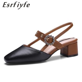 ba50ebda3bd ESRFIYFE 2018 sandalias de cuero genuino hechas a mano zapatos de mujer de  alta calidad zapatos
