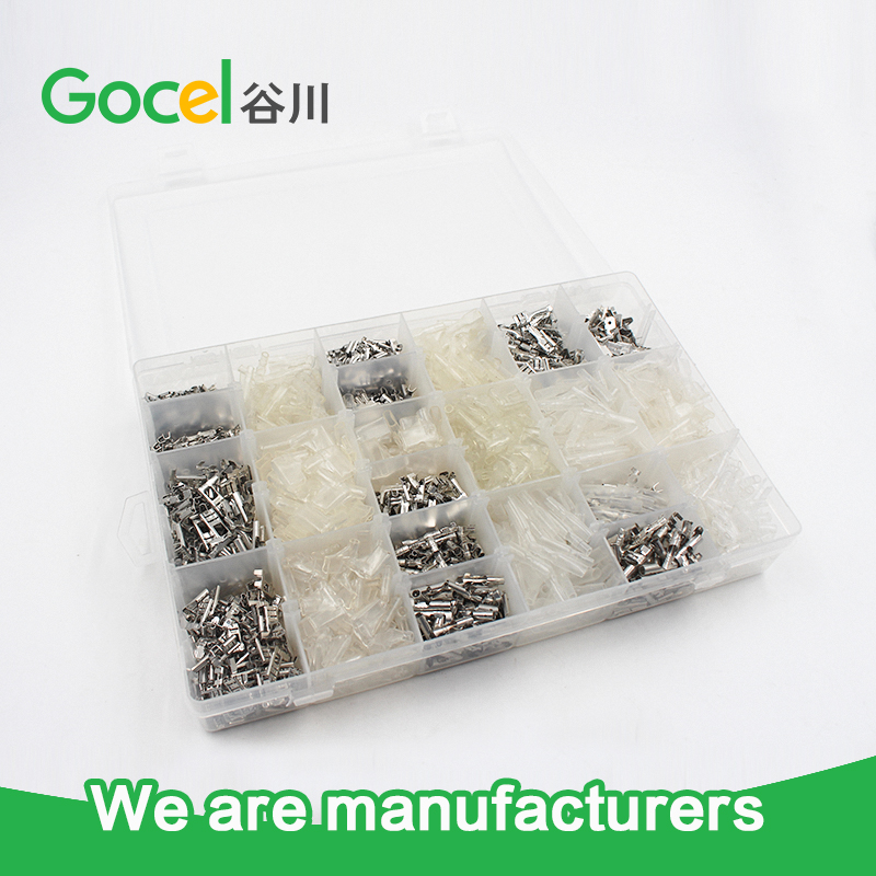 male and female brass terminal,pvc terminal cover,bullet terminal,crimp terminal kits 120pcs set 3 5mm brass bullet connector terminal male