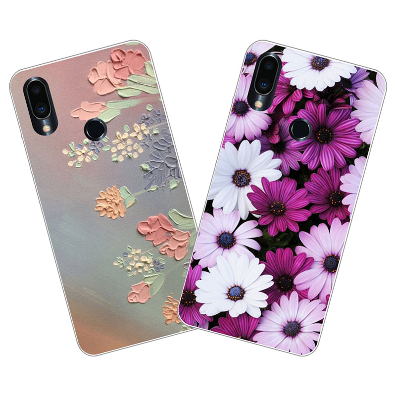 Meizu note 9 Case,Silicon Colorful flowers Painting Soft TPU Back Cover for Meizu note9 Phone protect cases shell