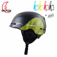 2018 Moon Ski Helmet Ultralight Integrally Molded Professional SNOW HELMET Men Skateboard