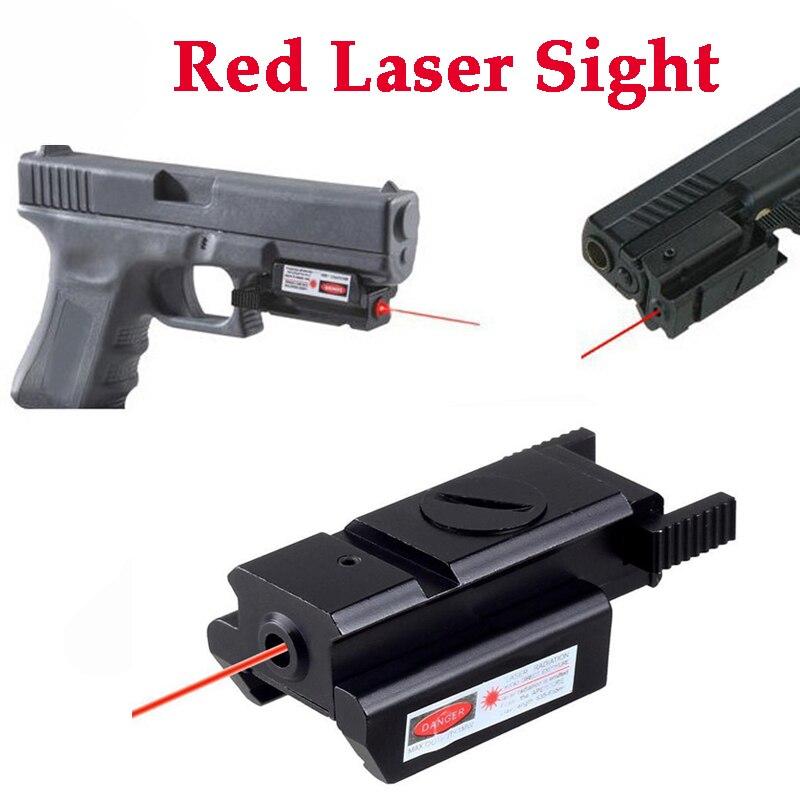 Glock Pistol Waist Holster Light Bearing Gun Case For Glock 17 19 22 23 31 32 + Mini Red Dot Laser Sight For 20mm Rail Gun