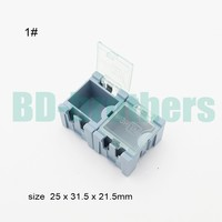 Original 1# Component storage box IC Components SMT SMD Wen tai Boxes Blue Green Pink White Black ESD Antistatic Case 3000pcs