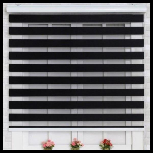 zebra roller shade striped popular zebra blindsdoublelayer roller blindsready made curtaincurtain fabric blindsdouble layer curtain
