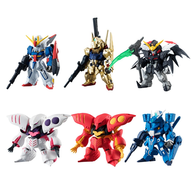 WSTXBD Original BANDAI 6 Pcs/Set Q Version FW Gundam Converge#07 PVC Figure Toys Figurals Model Kids Dolls Brinquedos redroom 2018 07 28t14 00