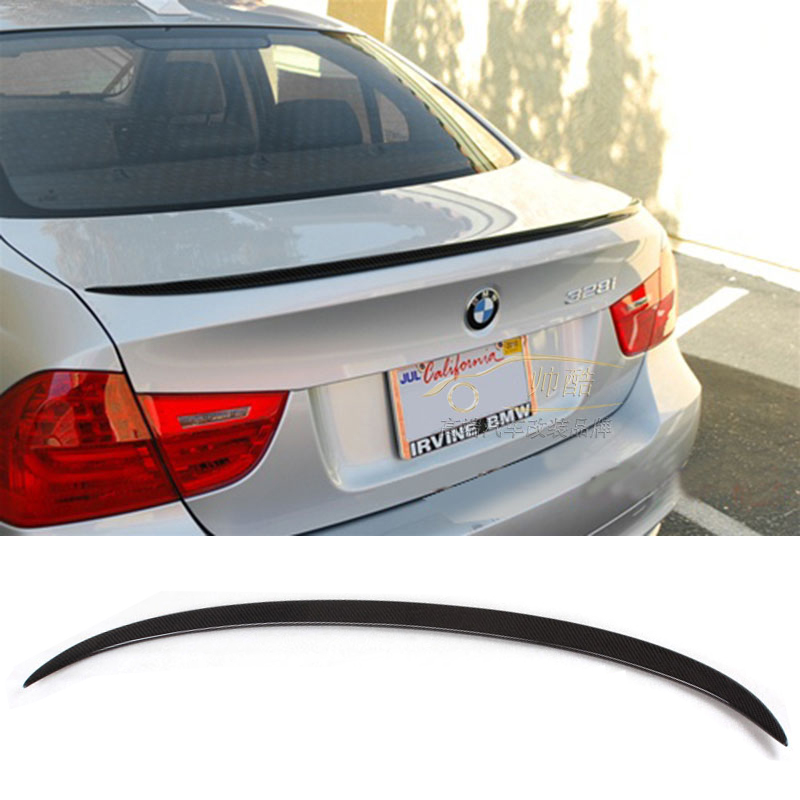 For BMW E90 4 doors Spoiler Performance Style 3 Series E90 M3 Carbon Fiber Rear Trunk Spoiler 2005 2006 2007 2008 2009 2010 2011 2007 bmw x5 spoiler