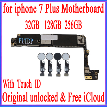 32gb / 128gb / 256gb for iphone 7 plus Motherboard With Touch ID/Without Touch ID,100% Original unlocked for iphone 7P Mainboard