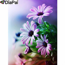 DIAPAI Diamond Painting 5D DIY 100% Full Square/Round Drill Flower landscape Diamond Embroidery Cross Stitch 3D Decor A24547 цена