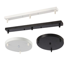 Lamps Chandeliers Base Plate Lighting Accessories Black Or White Round Rectangular Ceiling Base Rose Canopy Plate ceiling plate lamp base diy round iron lock line black white gold silver 66mm pendant lamp base