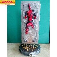 Мстители статуи Бесконечная война Дэдпул бюст Mutant Уэйд Уинстон Уилсон анимационная фигурка GK Коллекционная модель игрушки 35 см окна D865