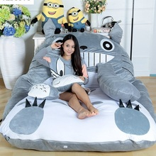 Bed-Sleeping-Bag Mattress-Cover Bed-Totoro Lazy-Sofa Bedroom Huge Cute Soft Size-Design