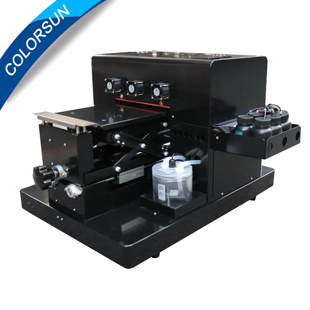 Livraison gratuite A4 taille Imprimante UV LED Imprimante à plat pour le Cas de Téléphone Imprimante, en bois, en cuir, ABS, TPU, T-shirt.pen, verre