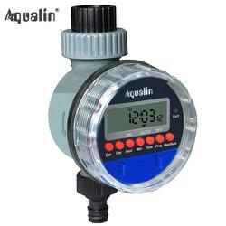 Automático electrónico pantalla LCD casa válvula de bola del agua temporizador jardín riego temporizador de sistema de controlador #21026