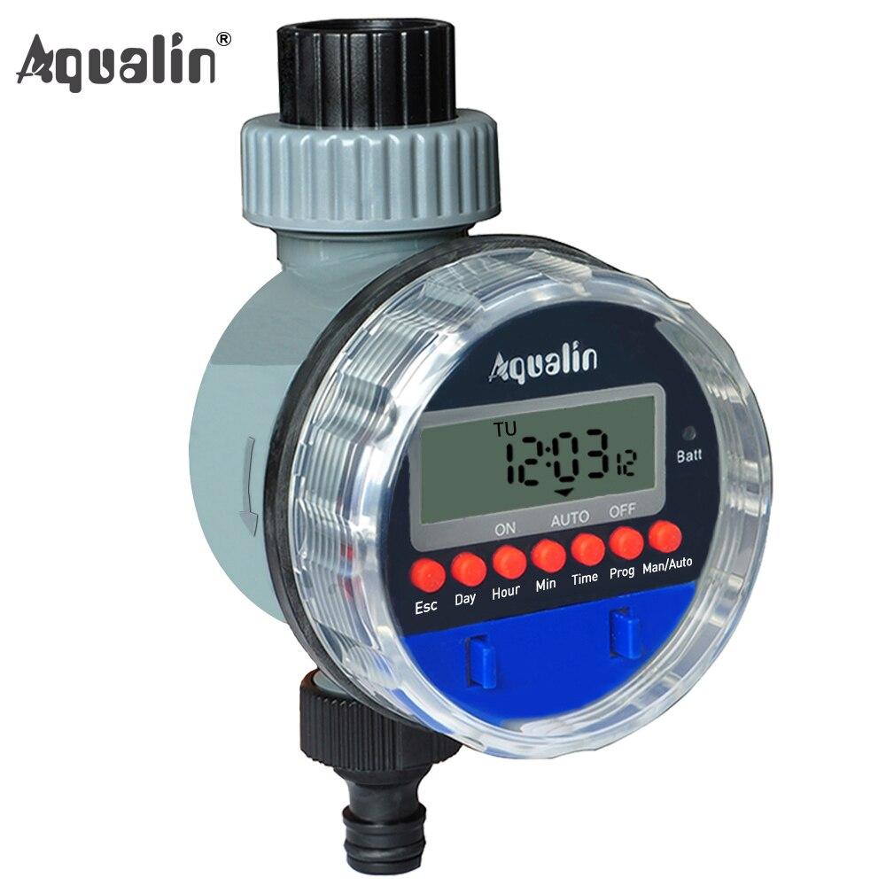Electrónico automático pantalla LCD hogar válvula de bola agua temporizador jardín temporizador de riego sistema #21026