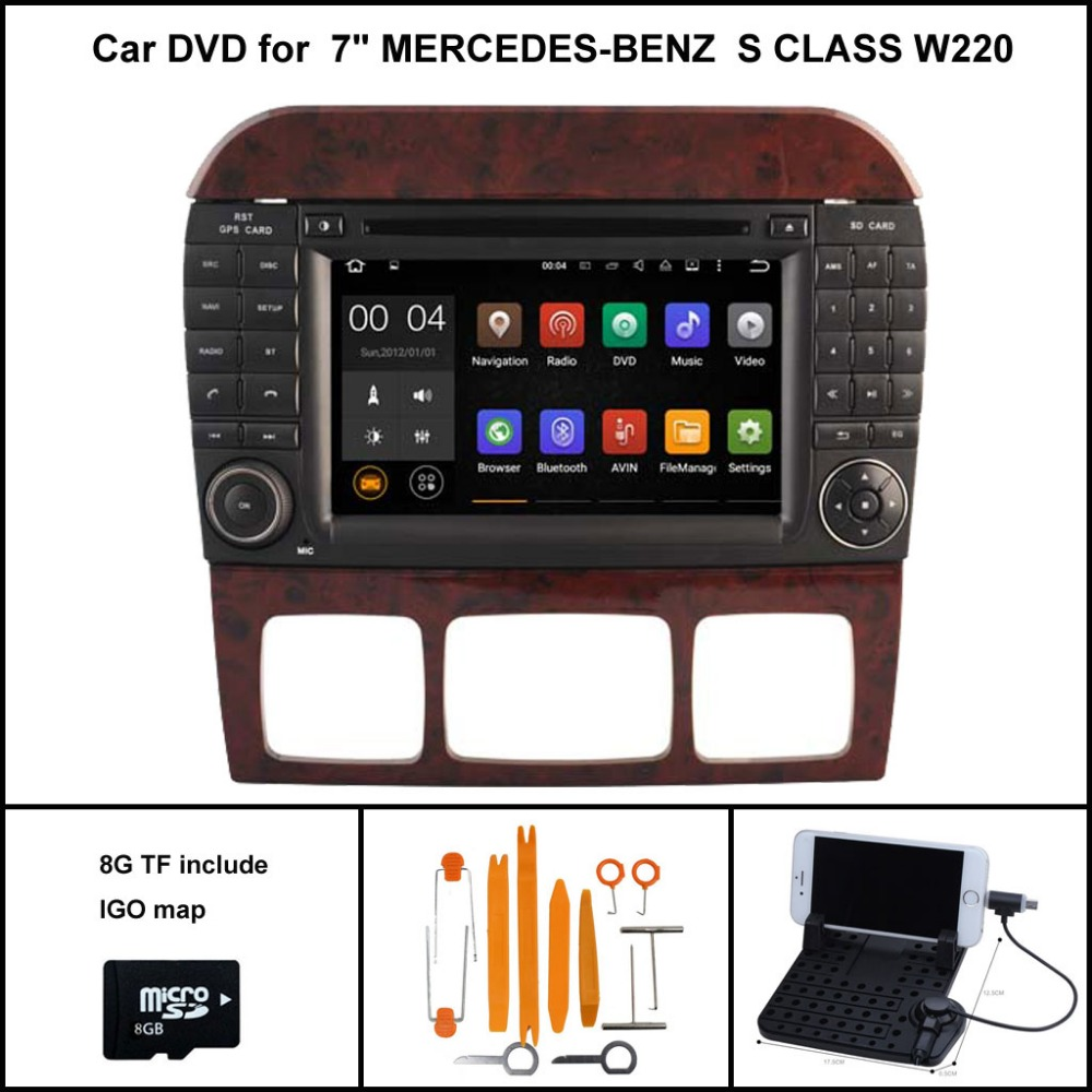 Android 7.1 CAR DVD Player for MERCEDES Benz S Class W220 S280 S420 S430 S320 S350 S400 S500 S600 GPS Navigation Wifi 3G
