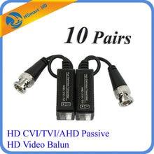 10 Pairs HD CCTV Via Twisted Pairs Adapter HD CVI/TVI/AHD Passive HD Video Balun
