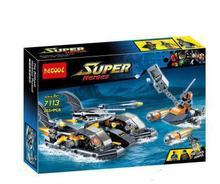 все цены на 263 piezas super heroes Batman la pelicula La batlancha Puerto busqueda asalto MODELO DE 7113 bloques de construccion regalos co онлайн