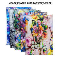 2019 The latest Peony flower PU passport holder foreign trade passport leather passport bag ticket clip card holder for ladies
