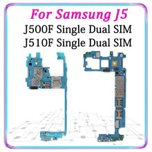 Original Motherboard For Samsung Galaxy J5 500F 510F Single Dual SIM Unlocked Mainboard Android Logic Board Good Working Plate(China)