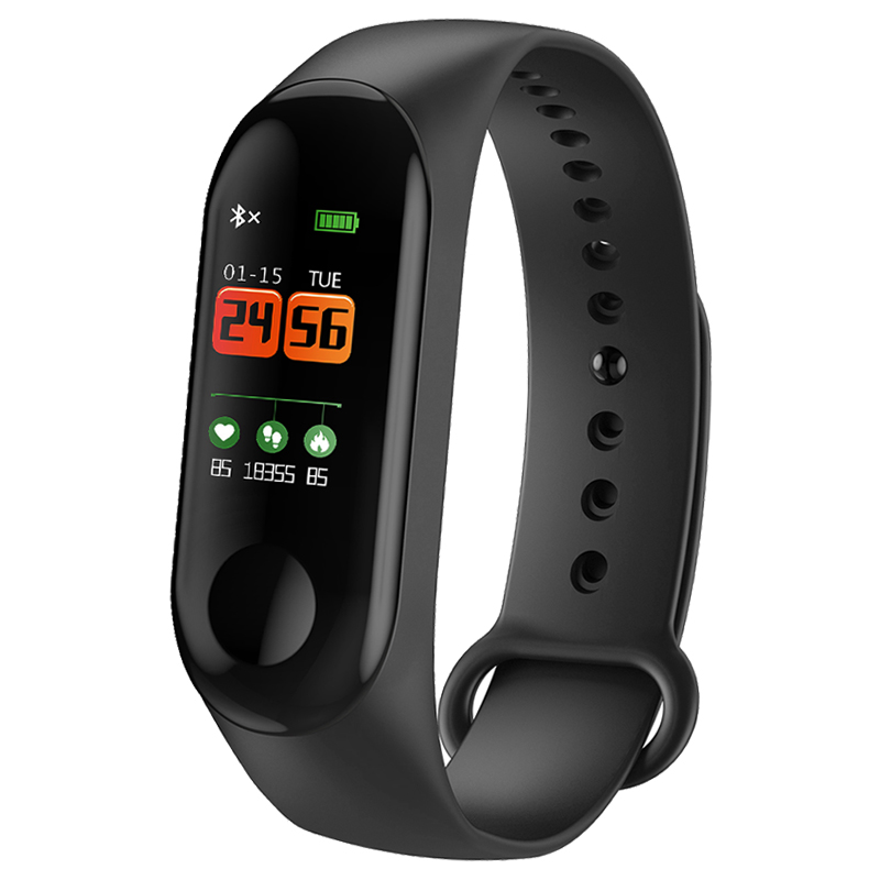 Smart Bracelet Color Screen Blood Pressure Waterproof Fitness Tracker Heart Rate Monitor Smart Band for Android IOS PK mi band 3 smart watch m19 heart rate fitness bracelet sleep monitor smart tracker blood pressure smart band color screen band pk mi band 3