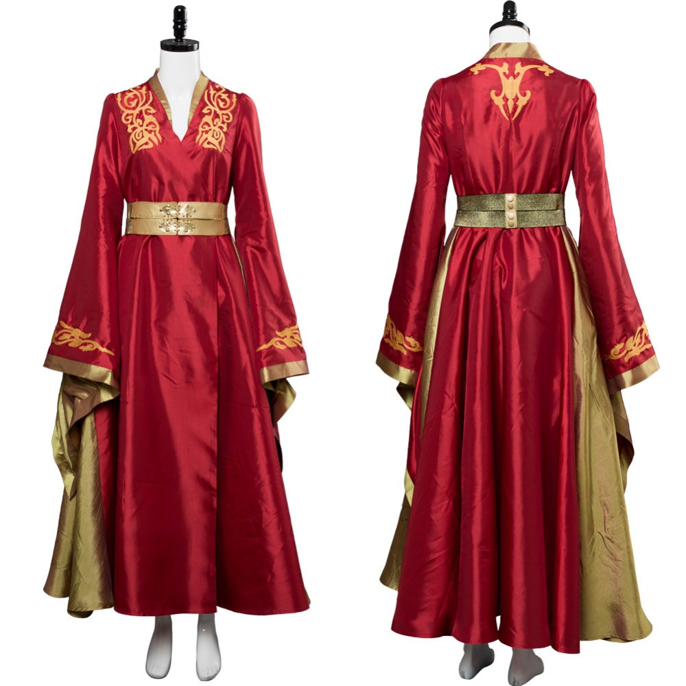 Game Of Thrones Cosplay Queen Cersei Lannister Cosplay Costume Dress for Adult Women Halloween Carnival Cosplay Costume
