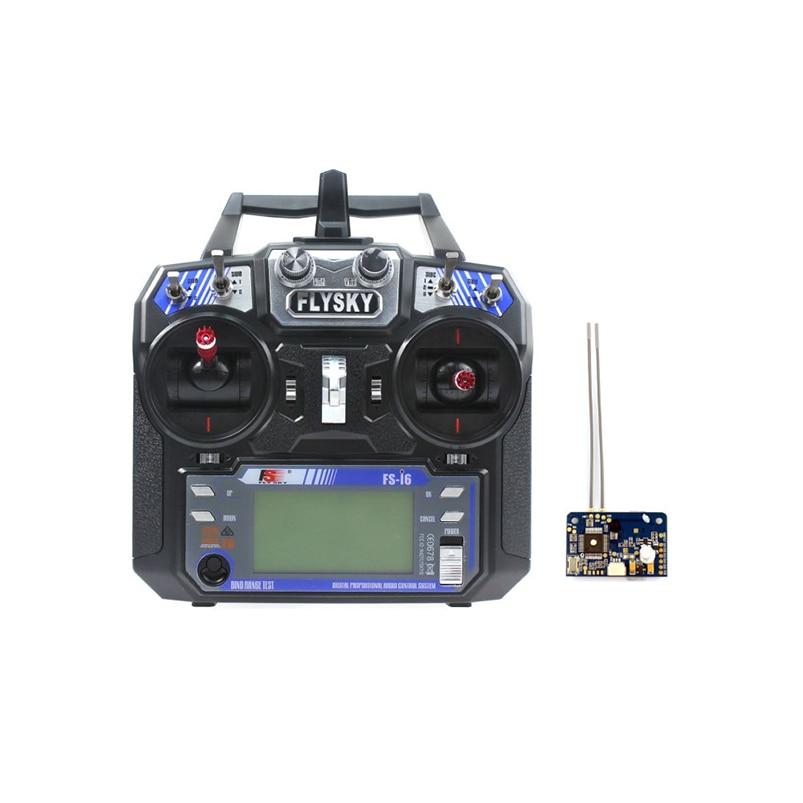 Flysky ФС-и6 AFHDS 2А 2.4 г 6-канальный ЖК-передатчик Радио система W/ ДФ-X6B приемник для мини fpv Дрон гонщик RC вертолет