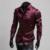 Hot 2016 de Primavera y Otoño de Emulación de Seda brillante de ocio de los hombres de manga Larga camisas de Vestir Para Hombre rojo vino sedoso/púrpura/negro Camisa Esmoquin