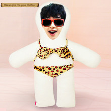 Photo custom pillow Leopard grain  bikini humanoid cushion Christmas decorations diy gift Doll Birthday Valentines Day
