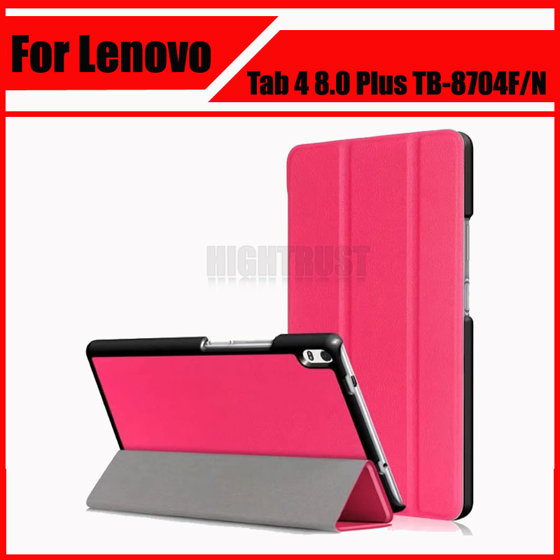 3in1 Pu Leather cover case for 2017 Lenovo Tab 4 8 Plus TB 8704F TB 8704N