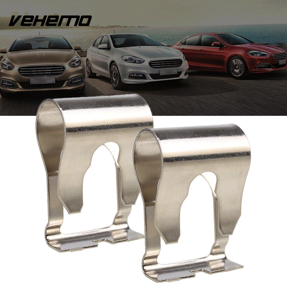 Vehemo 1 Pair Stainless Steel Silver Linkage Clip Windshield Wiper Clip Premium Wiper Motor Repair Kit Linkage Arm for Fiat