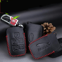 Teeze Cao Cấp Da 5 Buttons Từ Xa Gấp Key Holder Fob Trường Hợp Bìa Cho Land Rover/Jaguar