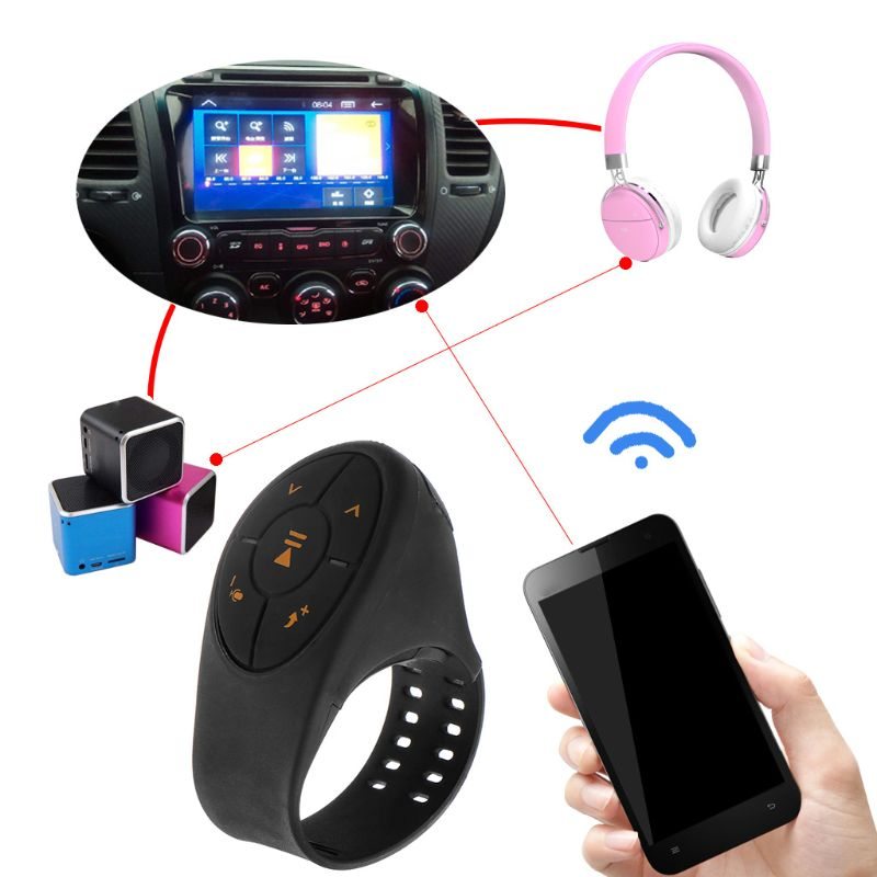 Bluetooth Remote Control Multi-Key Receiver Car Steering Wheel Wireless Button Controller Portable Media Music Audio Adapter
