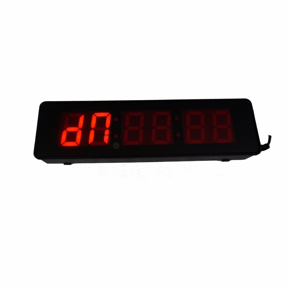 2 Character High 6digits Wall Clock Led Countdown Digital 7 Segment Count Down Alarm For Home Gym Crossfit Timing In Clocks From Garden On