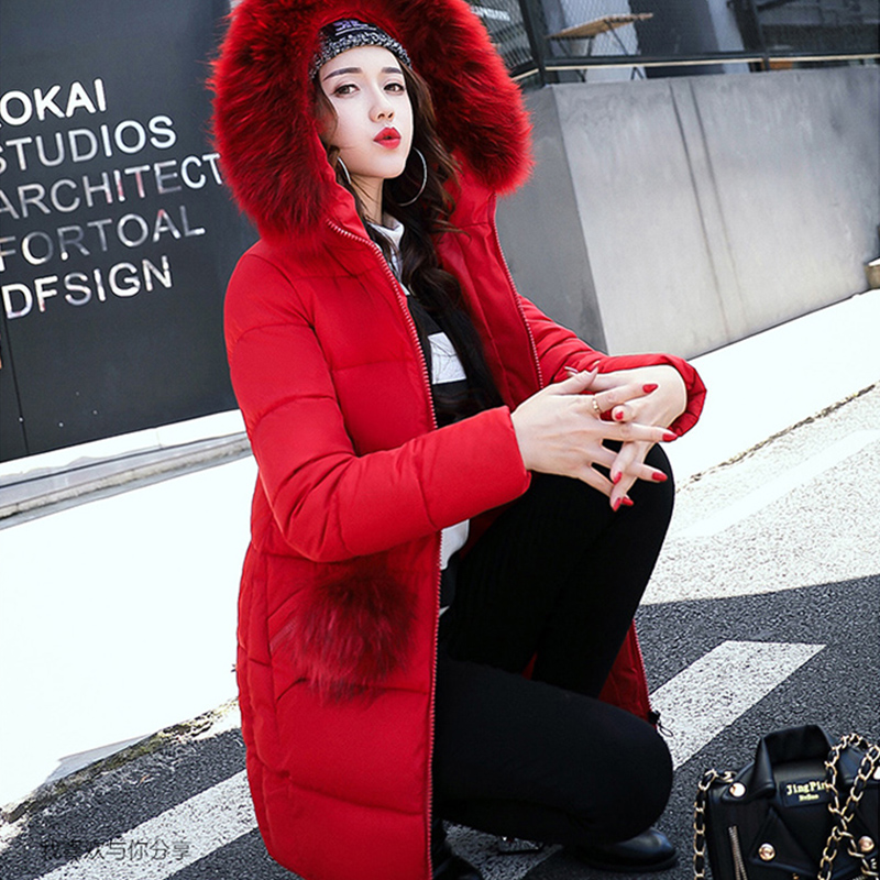 2017 New Winter Warm Hooded Women Parkas Coat Large Faux Fur Medium Long Thicken Women Jacket Female Outwear Coat Plus size BL02 winter jacket female parkas hooded fur collar long down cotton jacket thicken warm cotton padded women coat plus size 3xl k450